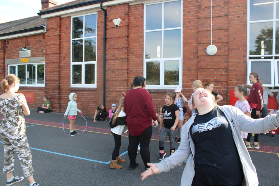 Summer Scheme playing outside